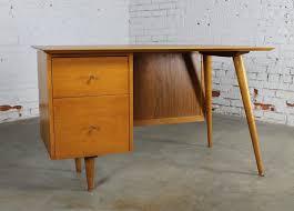 paul mccobb planner group desk with cane modesty panel mid century modern 2