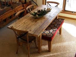 barnwood dining table and bench no picture no picture zoom pictures