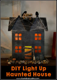 haunted house lighting ideas. diy light up haunted house u2013 easy and fun halloween craft this project is so lighting ideas