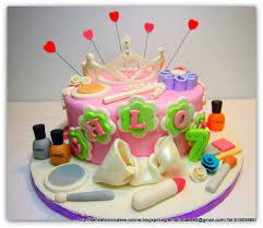 y princess pink theme cake singapore tiara cake makeup kit cake mac cake singapore cosmetic kit cake singapore