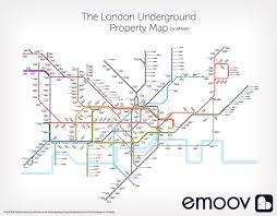 average house prices in london property market shown on tube map