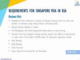 Company Letterhead Requirements Singapore Singapore Visa Covering