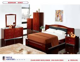 Natural Cherry Bedroom Furniture Pantek B 92 Bedroom Set Natural Cherry Wood
