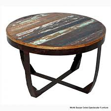 round iron coffee table s reclaimed wood diffe styles in centerpiece top dark raw side solid and glass living room tables metal frame with timber