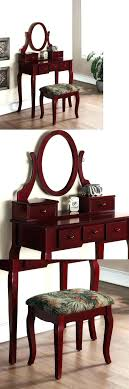 cherry vanity table set exotic makeup vanities and tables wood dark