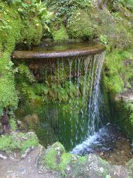 alluring small garden water features with succulent plants and small waterfall