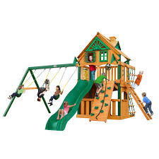gorilla playsets cau clubhouse treehouse wooden playset with fort add on timber shield posts
