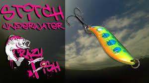 Приманки под водой. <b>Crazy Fish</b>. Stitch. Underwater. - YouTube