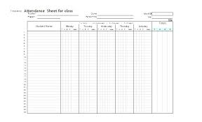 Free Printable Attendance Sheet Templates Monthly Class School