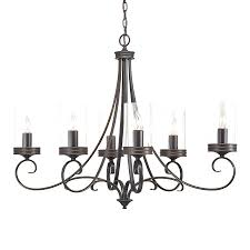 simple black chandelier display reviews for in 6 light bronze clear glass wrought iron