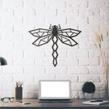 metal wall art dragonfly couleur gris