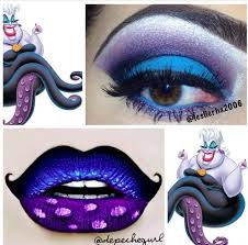 disney we have the colors to get this fabulous look ursula lips eye makeup