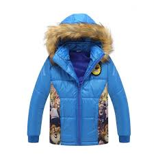2017 new fashion winter coat kids cartoon parka kids coats hooded long sleeve down jacket girl