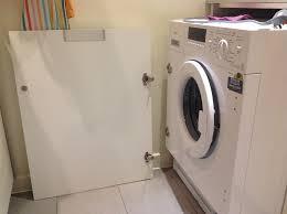 installing an integrated washing machine kitchen fitting