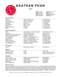 resume musical theatre resume examples acting resume template