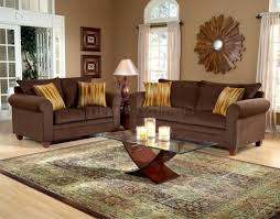 living room nature inspired room decorating ideas wood coffee table round white brown comfy cushion