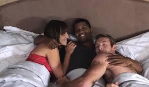 White couple threesome black men