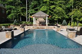 inground pools with waterfalls and hot tubs. Mediterranean Style In-ground Pool Inground Pools With Waterfalls And Hot Tubs