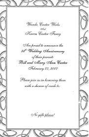 Invitation Card Anniversary Anniversary Invitation Cards Samples