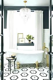 black and white bathroom decor gold walls striped harvest de