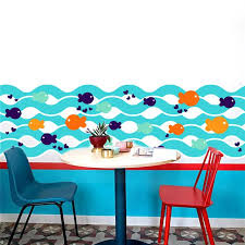 underwater fish bubble sea wall stickers for kids rooms kitchen bathroom toilet wall decals nursery beach themed wall decals australia underwater fish