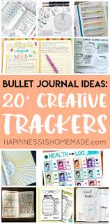 Activity And Mood Monitoring Chart 20 Bullet Journal Ideas Creative Tracker Charts