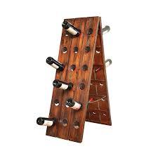 Wooden Floor Wine Rack