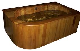 drop in wooden ofuro bathtub in cypress 60 soaking tub