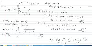 ytical geometry 223060 find the equation of circle throu askiitians