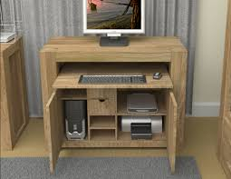 atlas chunky oak hidden home. The Left Hand Cupboard Holds A Tower Unit H43 W22 D48cm And Has An A4 Paper Shelf Above, Is Removable H14 Atlas Chunky Oak Hidden Home R