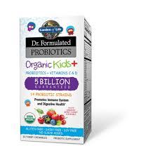 garden of life dr formulated probiotics organic kids berry cherry flavor 30 chewables