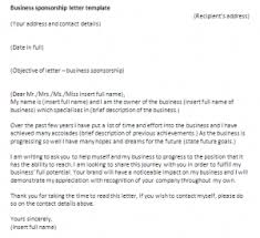 business sponsor letter template. Business sponsorship letter template Sponsorship letter samples