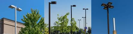 Round Tapered Aluminum Light Pole Dynapole Manufacturer Of Steel And Aluminum Lighting Poles