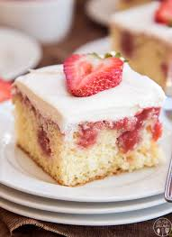 Strawberries And Cream Poke Cake Lmldfood