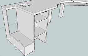 diy computer desk cabinet