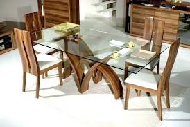 dining table wooden base glass top with wood set rectangular tables kitchen sets fas