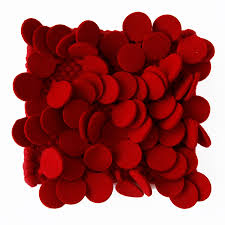 nanimarquina roses rug high pile felt area rug in red