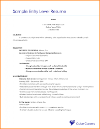 5 entry level resume examples nypd resume samples of entry level resumes
