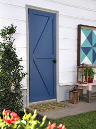 we updated an existing door but this project can easily be done with a brand new door