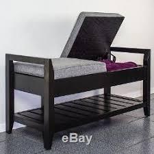 black hallway furniture. Wood Storage Bench Entryway Shoe Rack Organizer Seat Hallway Furniture Black New