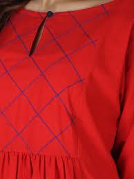 Simple Kurti Neck Designs Images Red Cotton Kurta Salwar Designs Kurta Neck Design Kurti