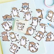 <b>45pcs Cute</b> Otter Series Бумажная наклейка Diy Diary Decor для ...