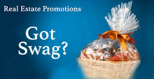 cover image for real estate promotion with swag featuring a gift basket on a blue
