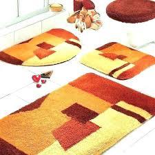 orange bathroom set 5 piece bathroom set 5 piece bath rug set contour bath rug sets