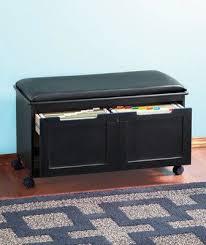 file cabinet bench seat. Walnut Black Cushion File Cabinet Bench Office Entryway Seat Filing Organize Den EBay Inside