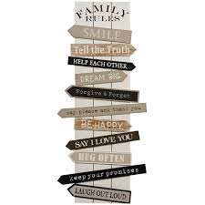 Wall Art Designs: Family Rules Wall Art Vintage Wall Art Wooden Pertaining  To Wooden Word