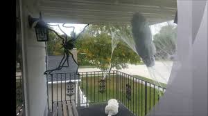 How To Make A Giant Spider Web Spooky Man Caught In Spider Web Cheap Halloween Decoration Diy