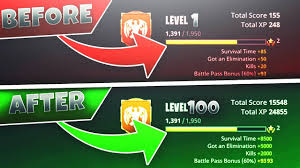 Fortnite Season 4 Level Chart How To Rank Up Fast In Season 4 Fortnite Max Level 100 Fast
