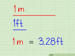 Conversion Chart Meters To Feet How To Convert Meters To Feet With Unit Converter Wikihow