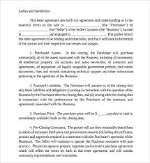 Letter Of Intent To Purchase Business Template Classy Letter Of Intent To Purchase Assets Of Business Template